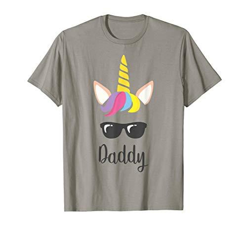 Herren Vater Tochter T-Shirt Partnerlook Daddy Einhorn - Tochter Daddy Kostüm