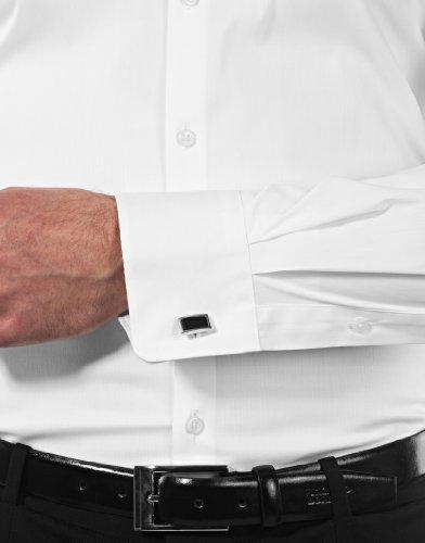 Vb–camicia da uomo Body Fit (stretch, taglio a evidenziare il contorno) Uni White