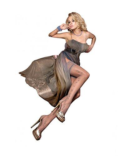 Ballerina 236 Schwarz halterlose Strümpfe Stockings Damenstrümpfe, Größe:S/M - (36/38)