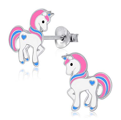 Laimons - Pendientes para niña, joyas para niños, unicornio, unicorn