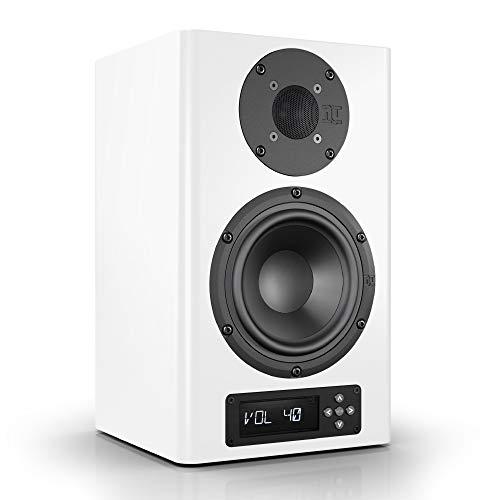 Nubert nuPro A-200 Regallautsprecher | Lautsprecher für Musikgenuss | Heimkino & HiFi Qualität auf hohem Niveau | aktive Regalbox mit 2 Wege Technik | digitaler Kompaktlautsprecher Weiß | 1 Stück (Spa-aktiv)