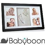 Kit de cadre photo moulage de pied et de main de bébé  Babyboon | 4 COULEURS DANS UN PACK | Le souvenir idéal pour un cadeau de naissance ou de baptême