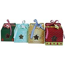Caja de Regalo Navidad del paquete con ventana Caja Cartón # 1196