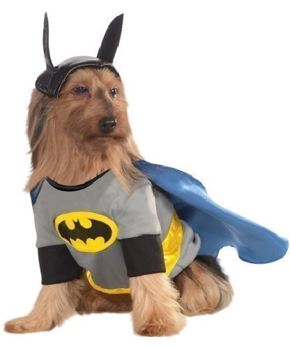 Fancy Me Animal Haustier Hund Katze Animal Batman Superheld Halloween Party Kostüm Kleid Kostüm Outfit - Small (Haustier Katze Kostüm Batman)