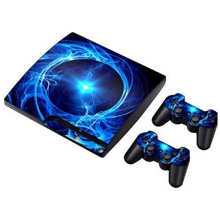 Cables & Connectors Universal Schutzfolien für PS3 Slim Cool Blue Skins Sticker 2 Controller Skins für PS3 andere