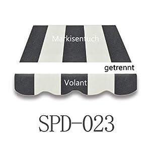 Home & Trends Markisen Tuch Markisenbespannung Ersatzstoffe SPD018-021-023-085-016 Maße 3 x 2.5 m Markisenstoffen ohne Volant fertig genäht mit Bordeux (SPD023)