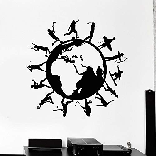 Tianpengyuanshuai Sport wandtattoos gesunde lebensweise Vinyl fensteraufkleber kreative Wand Schlafzimmer Wohnzimmer Gym Dekoration 102x106 cm