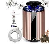 GUALA Lampada LED Killer per zanzare Nessuna Radio USB sicura e Ultra-silenziosa Lampada UV Portatile per zanzare con zanzariera con Repellente per Topi sonici e Pulsante Touch Screen