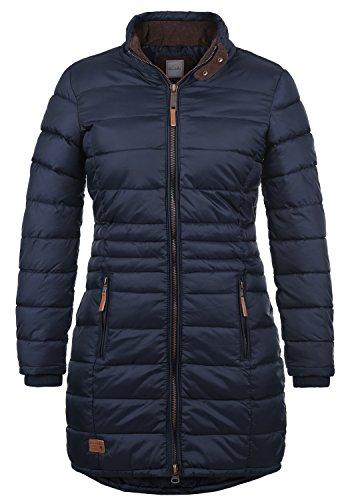 BLEND SHE Carlotta Damen Steppmantel lange Jacke gefüttert mit Stehkragen aus hochwertigem Material, Größe:M, Farbe:Navy (70230)