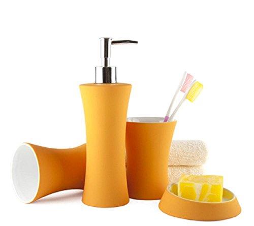 vernice-di-gomma-in-ceramica-accessori-bagno-imposta-4-pezzi-piatto-tazza-portabottiglie-doccia-gel-