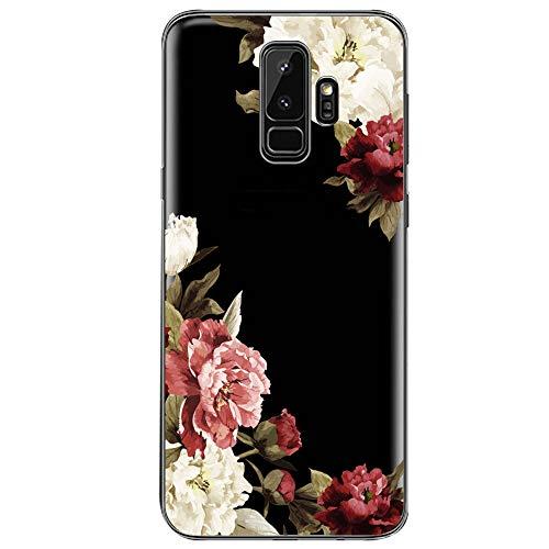 Samsung Galaxy S9 Hülle, Crystal Clear Transparent Handyhülle TPU Silikon Backcover Case Blossom Blühen Blumen Flower Muster Schutz HandyHülle Tasche Hülle für Samsung Galaxy S9 (Galaxy S9, 4) -