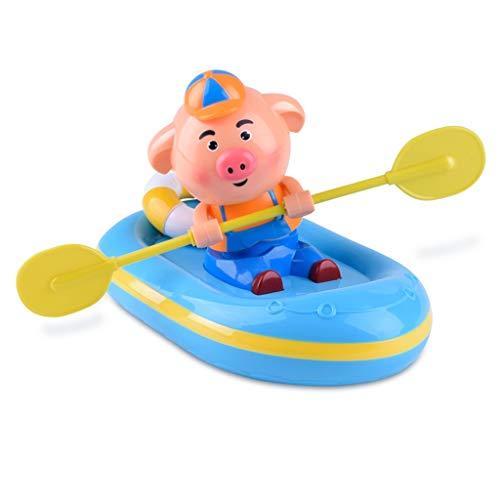 ZTSW Kinder Spielen Wasser frühling Spielzeug Bad dusche Schwein Rudern Baby Baby badewanne Meer lernspielzeug (Keine Batterie erforderlich)