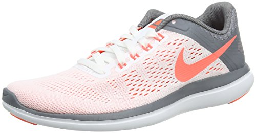 Nike Flex 2016 Run, Scarpe Running Donna, Bianco (White/Volt Black), 39 EU