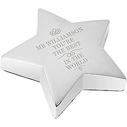 El mejor del mundo Star Pisapapeles souvenirs de cristal cristalería