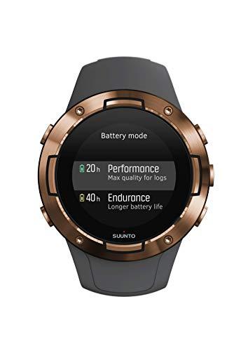 Suunto 5, Reloj multideporte GPS Unisex Adulto, Cristal mineral, Acero inoxidable, Silicona, Gris (Graphite), SS050302000
