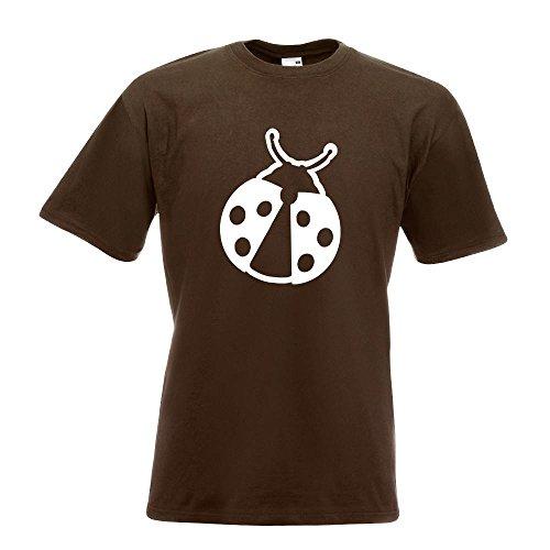 KIWISTAR - Marienkäfer T-Shirt in 15 verschiedenen Farben - Herren Funshirt bedruckt Design Sprüche Spruch Motive Oberteil Baumwolle Print Größe S M L XL XXL Chocolate