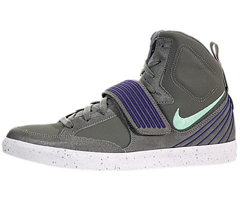 Nike Damen Hose NSW Skystepper Herren Hi Top Turnschuhe 599277005Sneakers Schuhe, Mercury Grey Green Glow Court Purple Silver - Größe: 44 EU (Air Nike Green Glow Jordan)