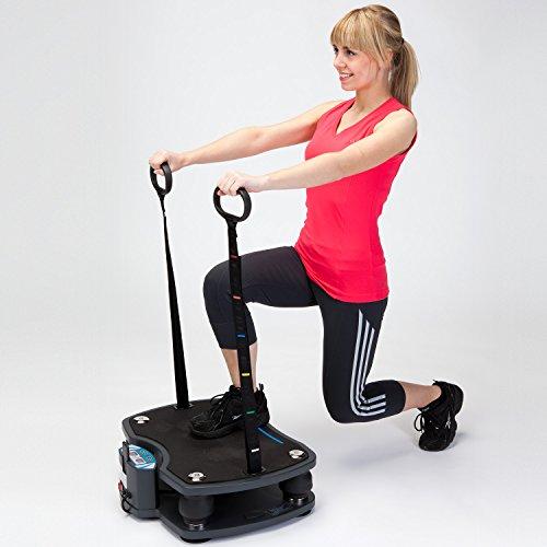 skandika Home Vibration Plate 500, Profi Vibrationsgerät, inklusive Trainingsbänder mit großer rutschsicheren Trainingsfläche, Fernbedienung und kraftvoller 3D-Vibration - 8