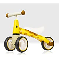 Beehive Toys My First Bike, Giraffe, Baby Walker Balance Bike, Baby and Toddler Ride on Trike for ages 12 - 24 months Yellow