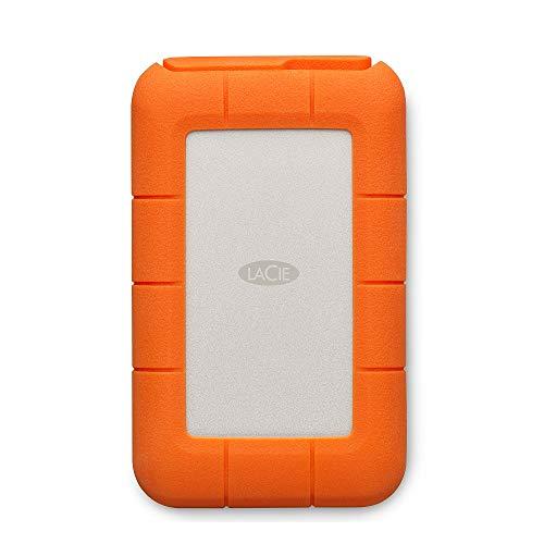 LaCie Rugged Thunderbolt USB-C, 4 TB, tragbare externe Festplatte für Mac, 2.5 Zoll, Thunderbolt, USB-C, Mac, PC