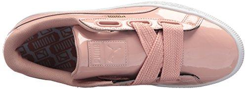 Puma Womens Basket Heart Patent Wn Sneaker Peach Beige-peach Beige