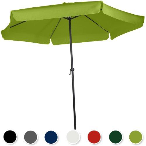 Miadomodo Ampelschirm Sonnenschirm mit Krempe Sonnenschutz mit Farb- und Größenwahl