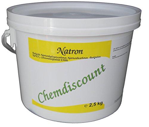 Natron 2,5kg in Lebensmittelqualität (Backsoda Backpulver Natron Natriumhydrogencarbonat Natriumbicarbonat E500ii)