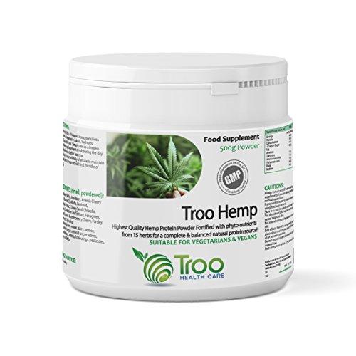 Troo-Hemp Hemp Protein Powder 500g - UK Manufactured To GMP Code Of Practice