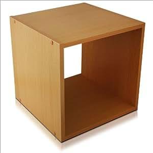 Cubo contenitore libreria scaffale in legno naturale 30 x for Libreria amazon