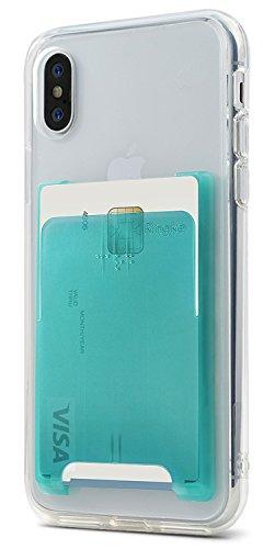 Ringke Slot Card Holder [Jade Green] Handy Kartenhalter 3M Befestigung Kartenetui für Galaxy Note 9, Note 8, S9, S9 Plus, iPhone X, Xs Max, Xr, iPhone 8 Plus, iPhone 7, Huawei P20, Pixel, LG, Usw -