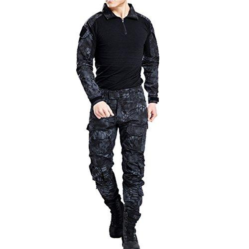 Vividda Herren Sweatshirt Top und Camouflage Hosen für Armee Militär Airsoft Paintball und Jagd Wargame Paintball Anzug Unifrom (Kostüme Anzüge Air)