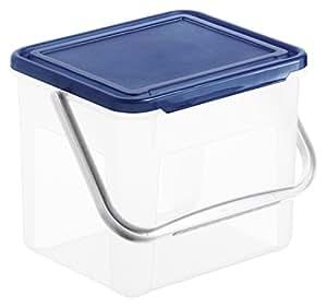 rotho waschmittelbox basic beh lter f r waschpulver aus kunststoff pp mit deckel und griff. Black Bedroom Furniture Sets. Home Design Ideas