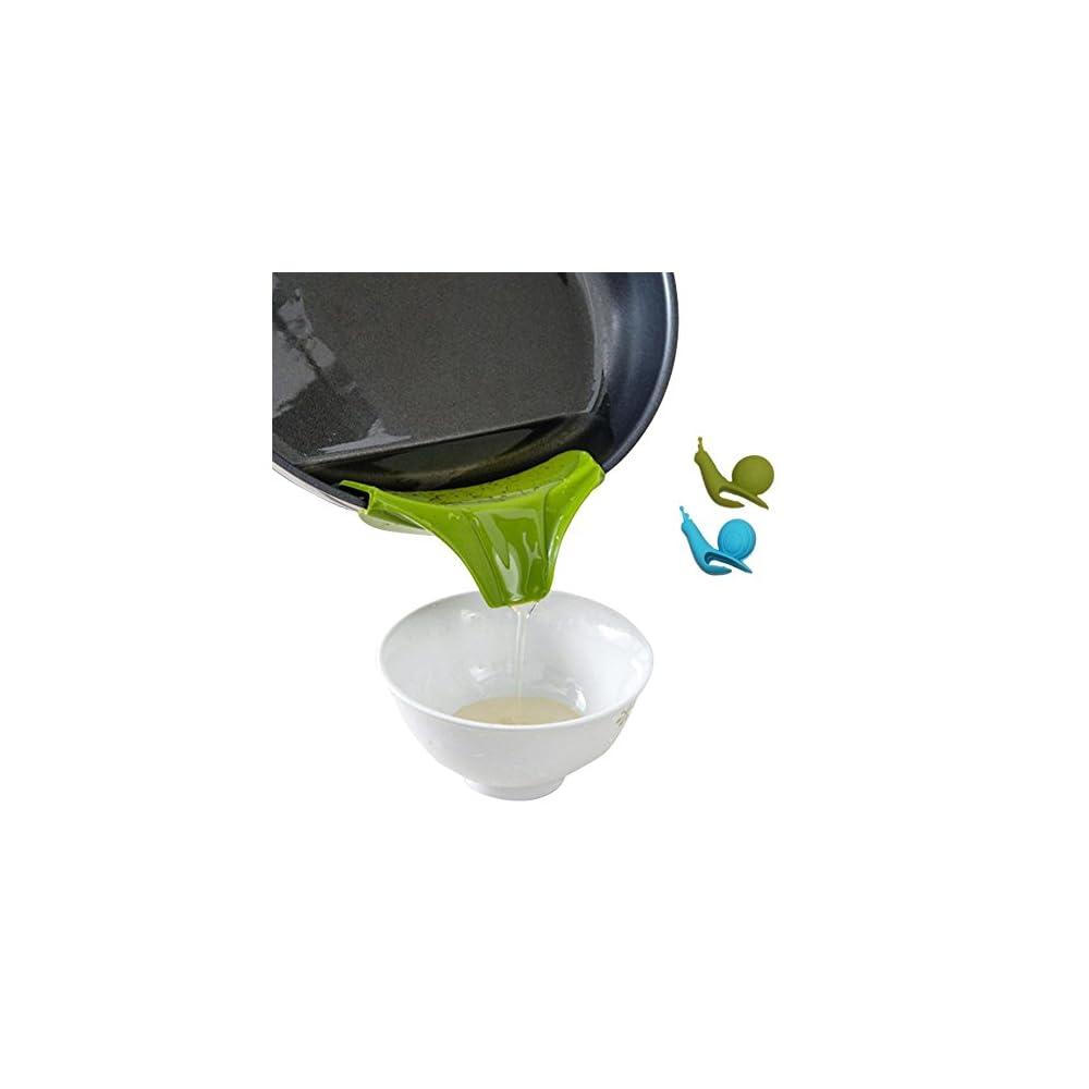 Swirlcolor Kchenhelfer Silikon Ausgusstlle Mess Freies Ausgieen Flssigkeit Suppe L Aus Schsseln Pfannen Tpfe