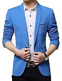 2f2655905ce9bc New Men s Slim Fit Stylish Leisure Blazer Jacket Business Blazer Suit  Jacket Essential Elegant Men s Casual