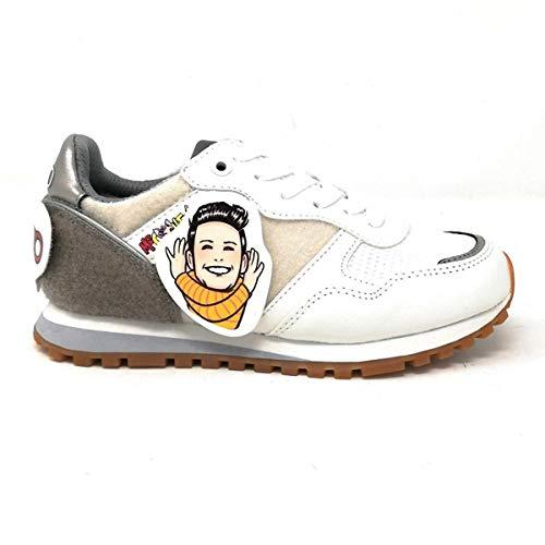 Liu-Jo Me Contro Te Sneakers Lacci Unisex Ragazzo/Ragazza in Tessuto e Velcro + Adesivi 4XX799TX08101111 (33 EU)