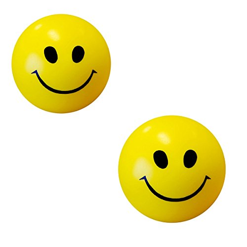 Stress Reliver Smiley Ball ( Pack Of 2)