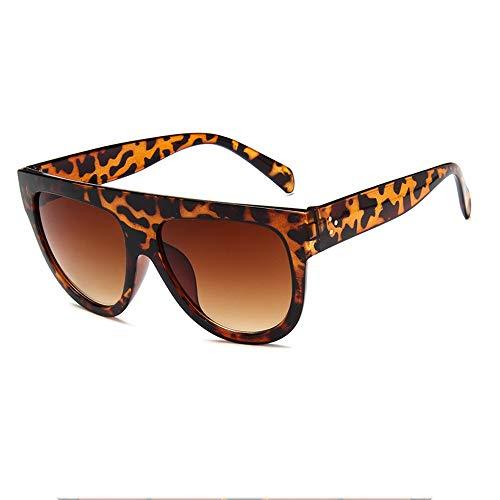 JIAHE115 Mode Sonnenbrillen HJCA Sonnenbrille XHM-51 Fashion Big Frame Sonnenbrille Koreanische Sonnenbrille Damenschutzbrille - Braun Schöne Brille