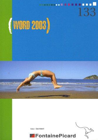 Word 2003 par Edith Paravy