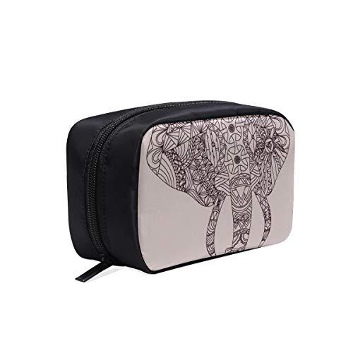 Linien bilden elefanten tragbare reise make-up kosmetiktaschen veranstalter multifunktions case kleine kulturbeutel für frauen und männer pinsel case
