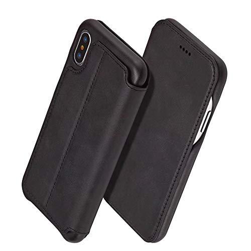 XQYPYL iPhone Handyhülle Flip PU Leder Brieftasche Case Hülle Tasche mit Kartenfächer und Schutzhülle Flip Wallet mit Ständer Anti-Wasser Shockproof,03,iPhone6/6S - Leder Lens Case