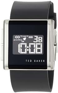 Ted Baker Men's Digital Black Silicone Strap Watch - TE1054