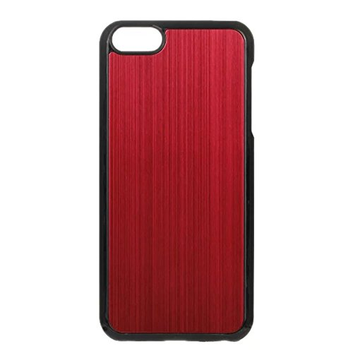 iPhone 5S Hülle Case,iPhone 5 Hülle Case,Gift_Source [Slim Fit] Luxury Colorful Hard Skin Hülle Case Back Metal electroplate wire drawing Hybrid PC Hard Hülle Case Cover für Apple iPhone 5s/5 [Yellow] E01-05-Red160614