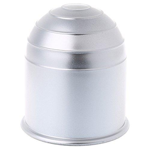 yaonow Universal Anhängerkupplung 50mm Bar Ball Cover Gap Caravan Trailer Schützen, Silber