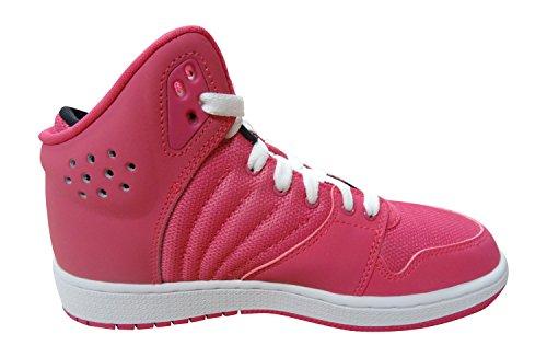 Nike Mädchen Jordan 1 Flight 4 Gg Turnschuhe Rosa / Schwarz / Weiß (Vivid Rosa / Schwarz-Weiß)