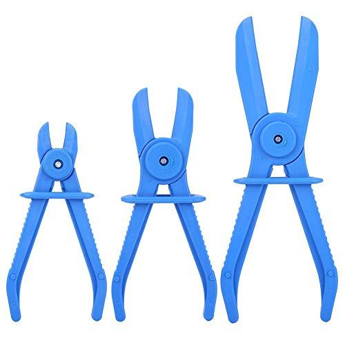Abrazaderas de línea, 3 piezas de plástico flexible abrazadera de manguera juego de herramientas de freno combustible línea de agua pinzas alicates Kit