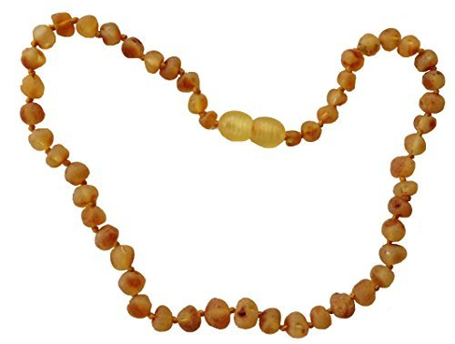 Raw Baltic Lemon Amber Necklace (RAW LEMON Baltic Amber Adult Necklace Made By UMAI - Pain Relief From Carpel Tunnel - Made of Certified Baltic Amber - Anti-inflammatory - Natural Pain Relief without Side Effects! - Headache Relief - Arthritis Relief by Umai)