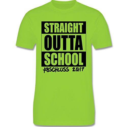 Abi & Abschluss - Abschluss 2017 Straight Outta School - Herren Premium T-Shirt Hellgrün