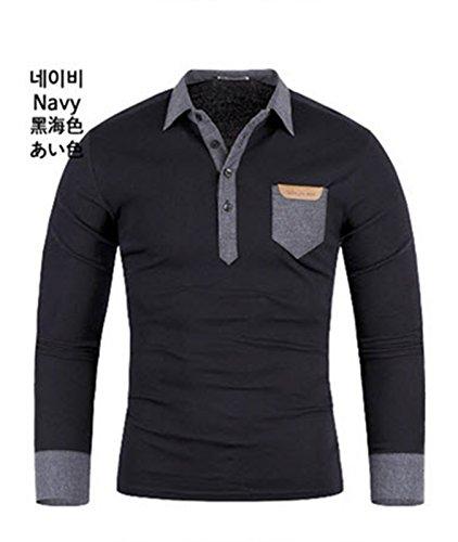 Chiclook24 Herren Poloshirt weiß weiß S Marineblau