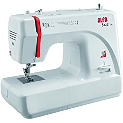 Alfa Basic 720 - Máquina de coser, 9 diseños de puntada, motor de 70 W, color blanco