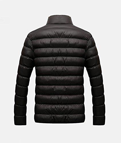 LaoZan Herren Steppmantel Oberbekleidung Winterjacke Jacke Steppjacke Sportjacke Warme Mantel Schwarz